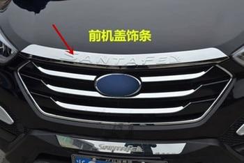ABS Chrome Accessories Fit For 2013 2014 2015 2016 2017 Hyundai Santa Fe Santafe IX45 Engine Trim Chrome Hood Guard