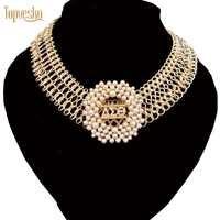 Topvesko women fashionBig statement choker Delta Sigma Theta Pearl necklace Set Jewelry