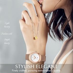 Image 2 - NAVIFORCE zegarek moda damska sukienka zegarki kwarcowe Lady zegarek wodoodporny ze stali nierdzewnej prosta dziewczyna zegar Relogio Feminino