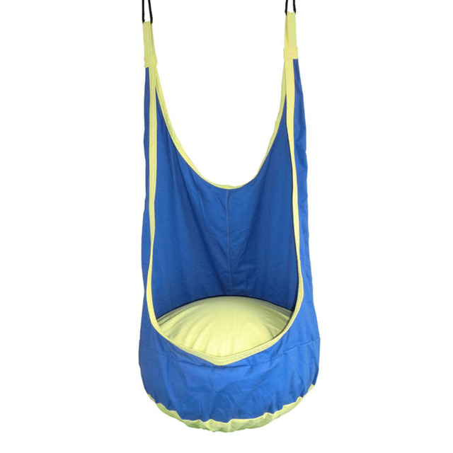 swing chair seat blue office chairs kids toy hammock indoor outdoor hanging hangstol for reading tent relax