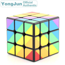 YongJun Scalene Unequal 3x3x3 Magic Cube YJ 3x3 Professional Neo Speed Puzzle Antistress Fidget Educational Toys For Children