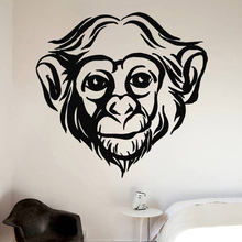 Hand made Monkey Bedroom Wall Sticker Decals Mural Jungle Nursery Kid Room Decoartion Home Decor A3-012