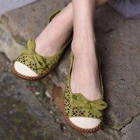Artmu 2017 Sweet Hollow Out Women Shoes Handmade Slip On Woman Loafers Artmu Shoes Female Shoe