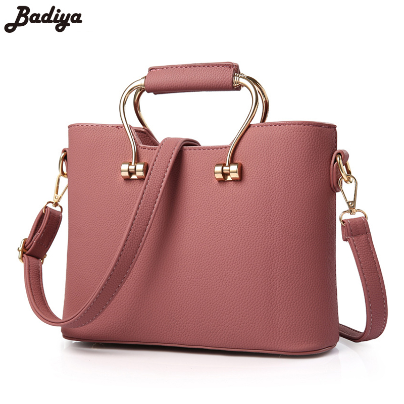 New Fashion Women Handbag PU Leather Office Ladies Shoulder Bags With Inner Zipper Pockets High-quality Luxury Top-Handle Bags