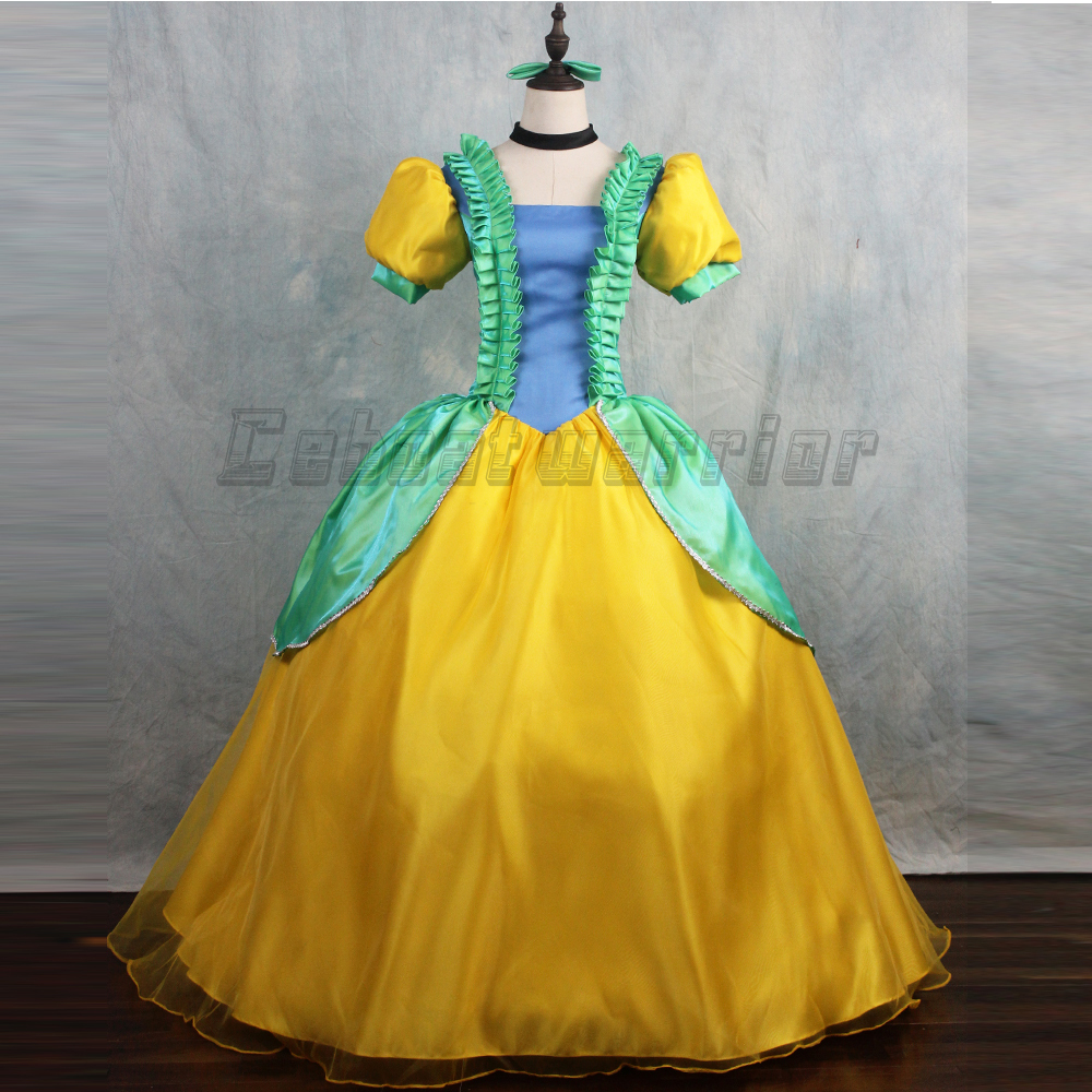 Movie Cinderella sister cosplay Costume  Adult women Princess wedding Dress