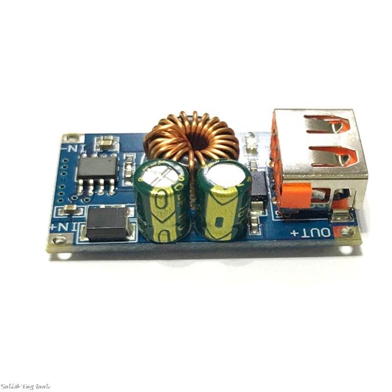 DC 6V-32V Zu 5V Step-down Power Supply Module USB DC QC 3,0 Schnell ladung Bord Für Handy