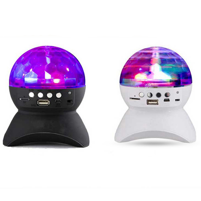 LED Crystal Ball Auto Rotating Stage Lights Bluetooth Speakers ...