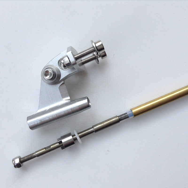 1Set Shaft Kit 300mm 3.18mm Flexible Shaft+3.18 Shafts Bracket+200mm Copper Axle Sleeve For DIY RC Jet Boat Transmission Parts
