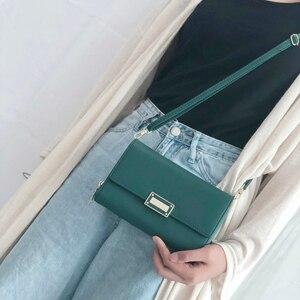 Image 2 - WEICHEN 真新しいマルチ関数 a の女性のショルダーバッグ & クラッチ大容量革の女性の財布財布メッセンジャーバッグ女性新しい