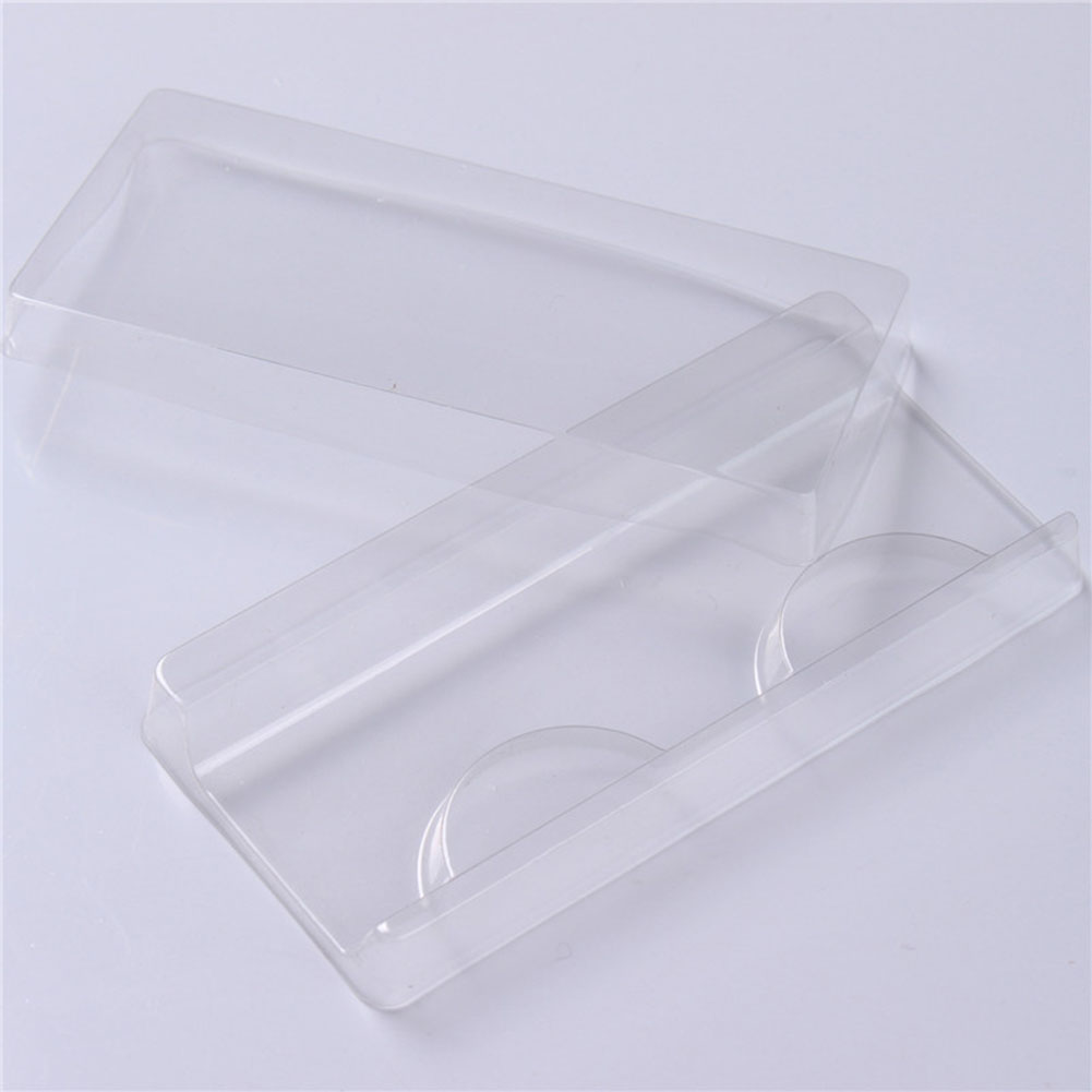 25pcs False Eyelash Packing Box Clear Lid Tray Eyelashes Storage Transparent Empty Lash Case Makeup Storage Organizer For Travel