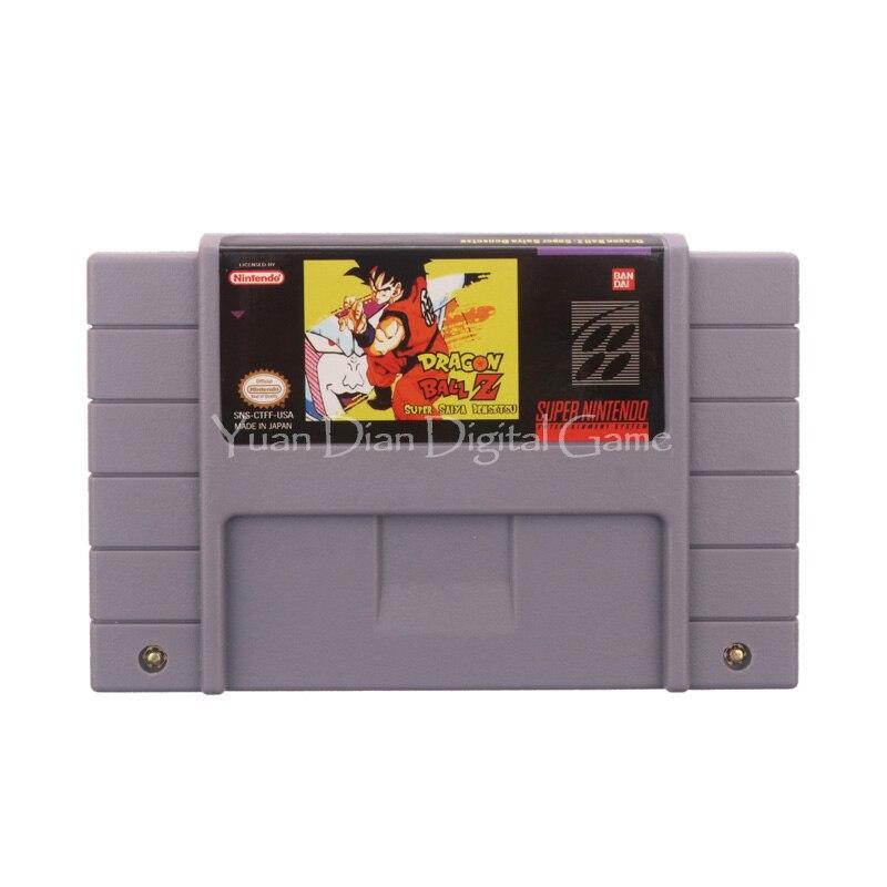 Nintendo SFC SNES Video Game Cartridge Console Card Dragon Ball Z Super Saiya Densetsu USA English