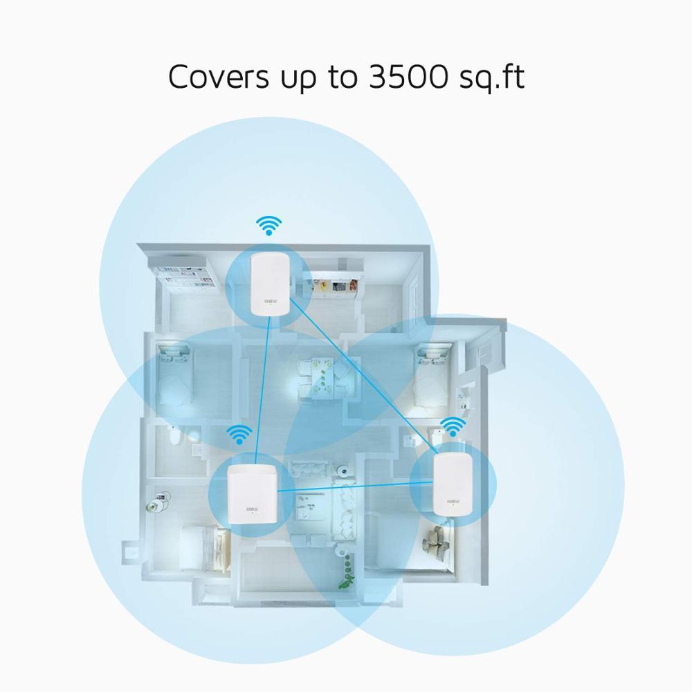 Tenda Nova MW5 sans fil Wifi routeurs à mailles AC1200 double bande 2.4 Ghz/5.0 Ghz Wi-fi répéteur système d'extension APP à distance pour la maison Soho - 4