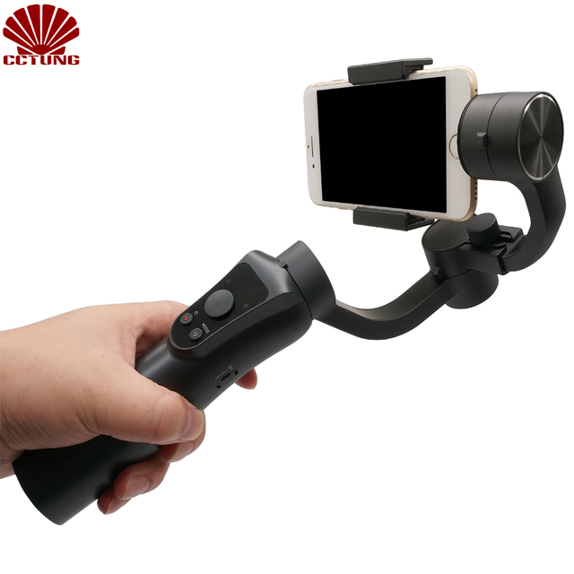 US $100 75 35% OFF|3 Axis Hand held Gimbal Stabilizer with Power Bank Free  APP for Face Detection Object Tracking Delay Shooting Intelligent Beauty-in