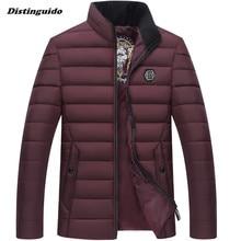 2017  Fashion Parka Men Cotton Padded Men Jacket Autum Winter Jacket Men Overcoat Casual Male Jacket Coat MJK048