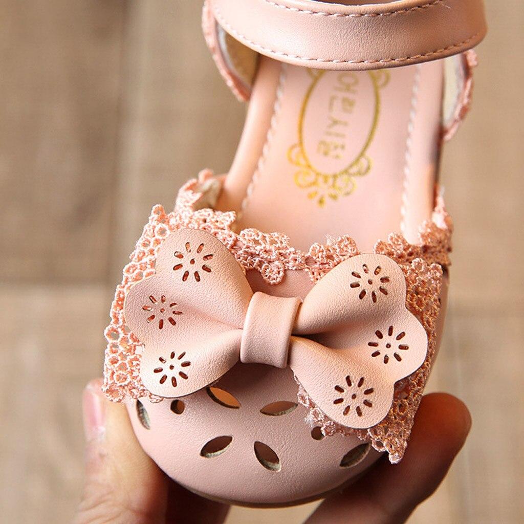 Summer Toddler Kid Baby Girl Elegant Bowknot Flower Princess Soft Shoes Sandals