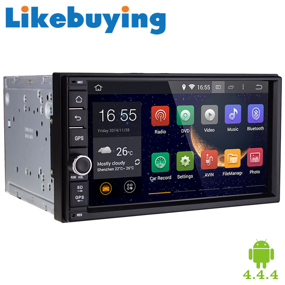Likebuying Quad Core 7 HD 1024 600 2 Din Android 4 4 4 font b Car