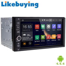 "Likebuying Quad Core 7"" HD 1024*600 2 Din Android 4.4.4 Car DVD For Universal GPS Navigation Radio Bluetooth Automotivo/Stereo"