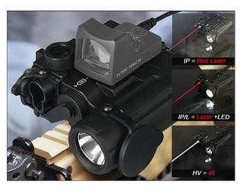 DBAL-D2 dual beam Led light flashlight with Red Laser IR laser aim of LED illuminator Class 1 for hunting rifle GZ150088