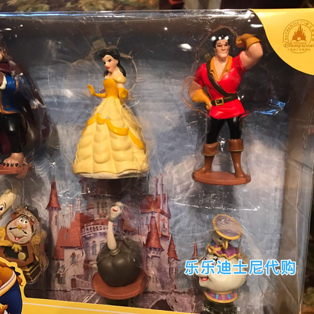Genuine bulk Beauty and the beast Prince Aladdin lamp children at home toys original aladdin and the magic lamp action figures toy aladdin jasmine princess model doll