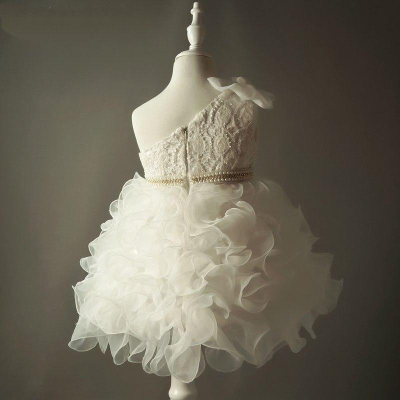 Ivory Flower Girl Dresses För Bröllop Vintage Kids Sideant Party - Bröllopsfestklänningar - Foto 4