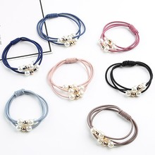 Hair Accessories Pearl Elastic Rubber Bands Ring Headwear Girl Elastic Hair Band Ponytail Holder Scrunchy Rope Hair Jewelry(China)