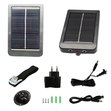 HC300M HC350M HC550M HC550G HC700G External Solar Powered Panel Charger for Digital Hunting Camera Photo Traps Battery Pan