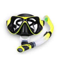 Professionelle Tauchen Maske Schnorchel Anti-Fog Goggles Glasse Set Silikon Schwimmen Angeln Pool Ausrüstung 7 Farbe Erwachsene