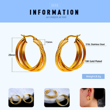 E018 316L Stainless Steel Hoop Earring