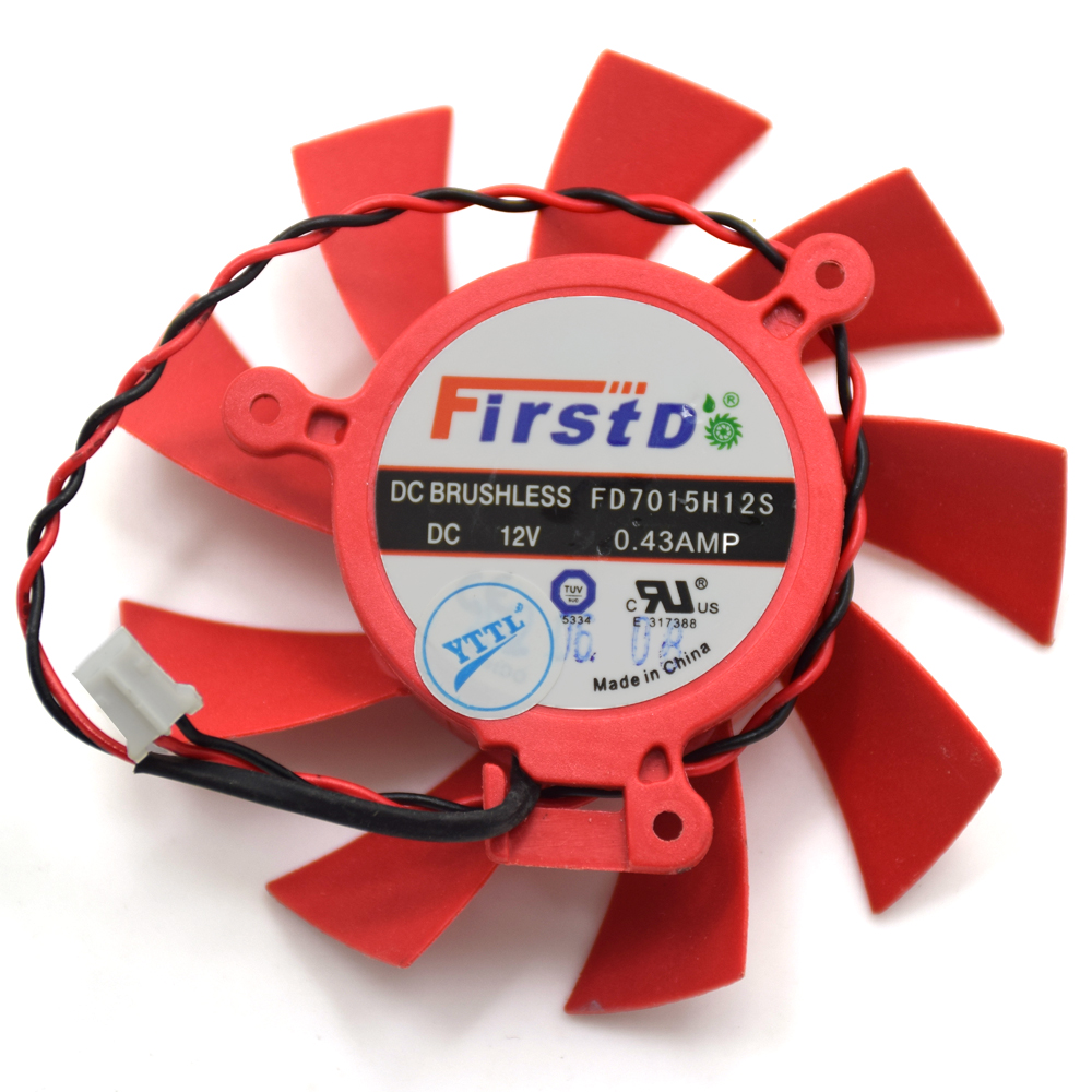 Firstd FD7015H12S 65MM DC 12V 0.43AMP 39MM 2Pin 4Pin Replacement For ATI Sapphire HD5770 HD5850 HD5830 VGA Video Card Fan computador cooling fan replacement for msi twin frozr ii r7770 hd 7770 n460 n560 gtx graphics video card fans pld08010s12hh