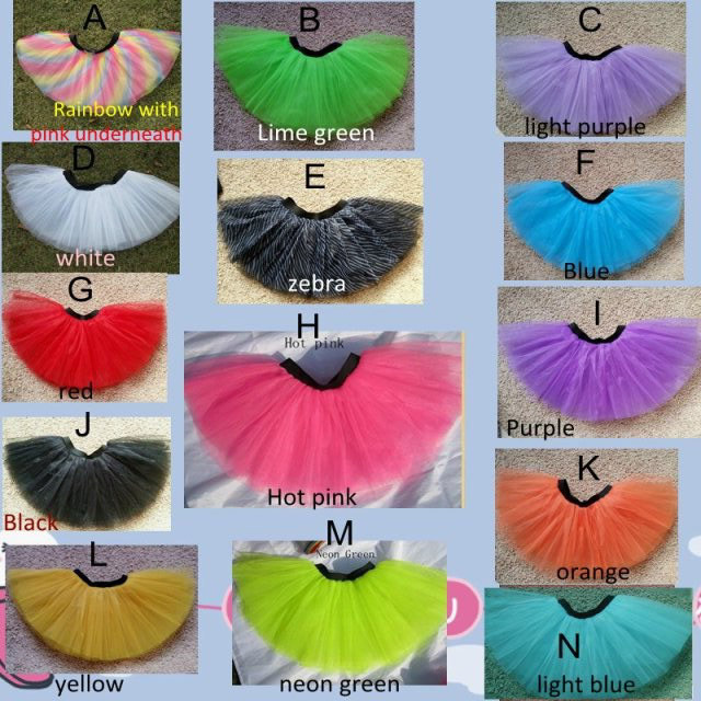 2013 Adult  Colorful Rainbow 3layer Tutu Skirt Women Free Shipping By Ems