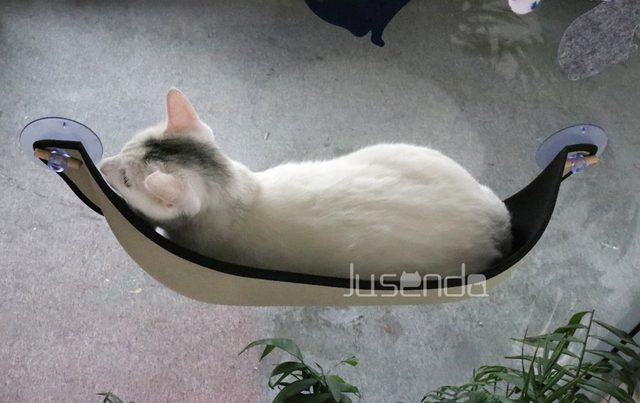 High Sleeping Soft Hanging Hammock for Cats Bed Window Perch Suction Mount Kitty Sill Lounger Outdoor Carrier Dog Rabbit Pet