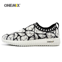 Onemix Super Light Women Sport Sneakers Breathable Mesh Mens Running Shoes Unisex Outdoor Walking Shoes Comfortable