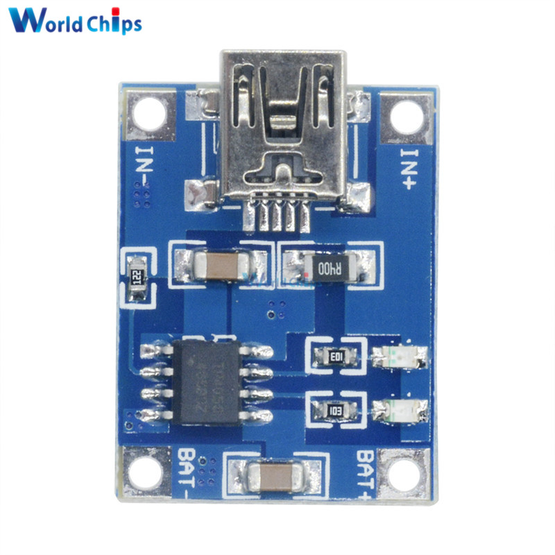 2PCS TP4056 5V 1A USB 18650 Lithium Battery Charger Board Protection Module AP