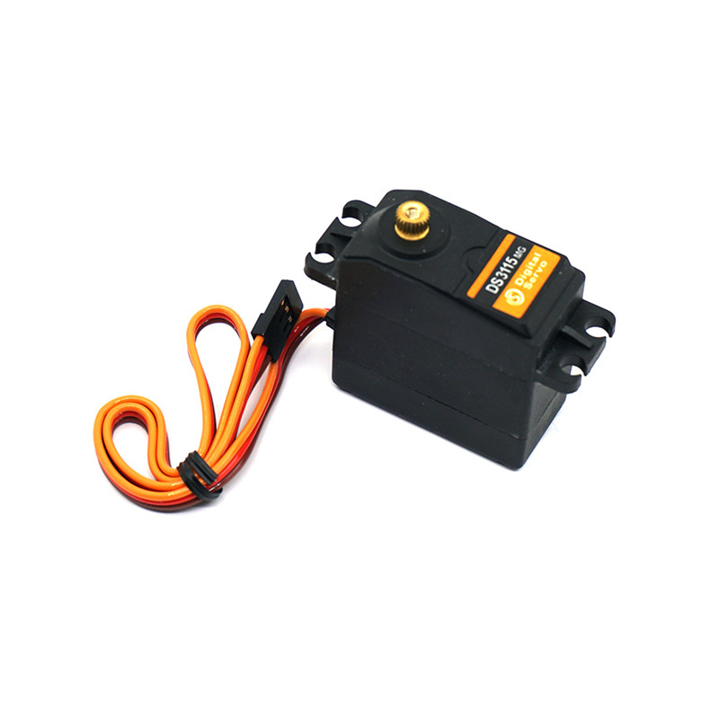 1PC Universal DS3115MG Metal Gear Torque Digital Coreless Servo for 1/10 RC Car 1pcs jx pdi 6221mg 20kg large torque digital coreless servo for rc car crawler rc boat helicopter rc model