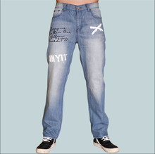 2015 New Men's Jeans Loose Pants, Street Skateboard Jeans Baggy For Men Plus Size 30-42