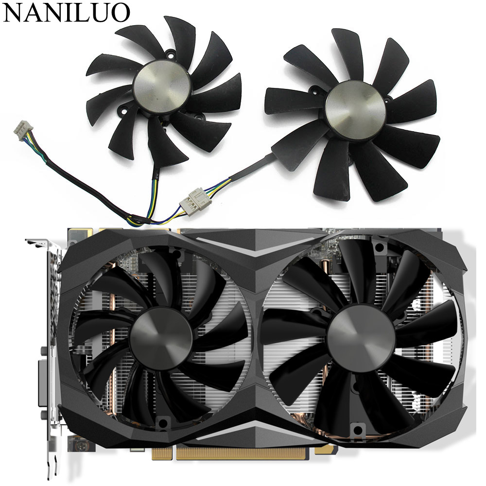 100MM GAA8S2H GAA8S2U <font><b>GTX1070TI</b></font> Mini 4PIN Cooler fan For ZOTAC <font><b>GeForce</b></font> GTX 1080 GTX 1070 Ti Mini GTX 1060 AMP Edition Card Fan image