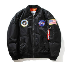 New Flight Pilot Jacket Men Bomber Ma1 Men Bomber Jacket Nasa Air Force Embroidery Baseball Military Thin Section Jacket S -XXL
