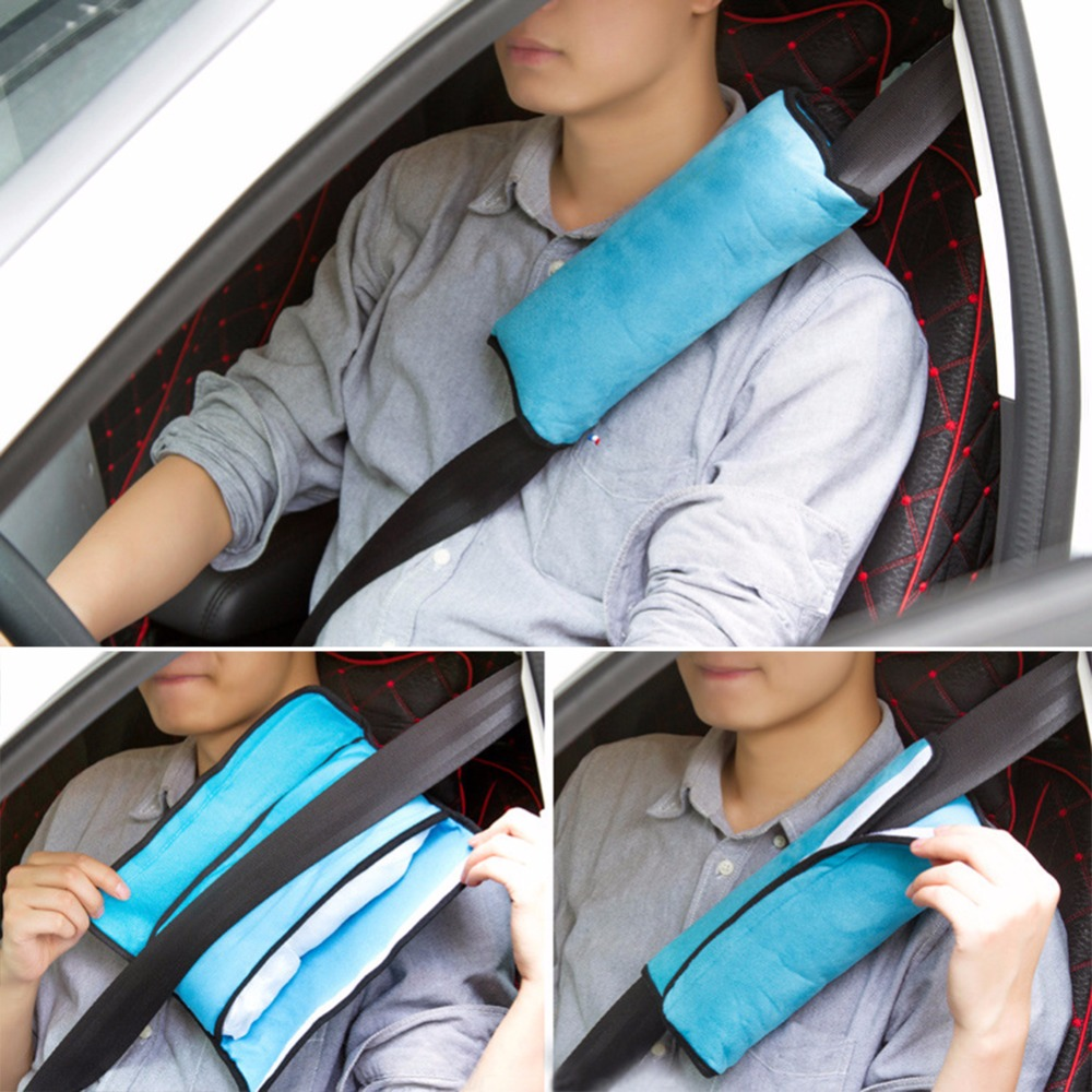 1x Car Auto  Baby Kid Safety Seat Belt Harness Shoulder Cushion Pad Pillow SG