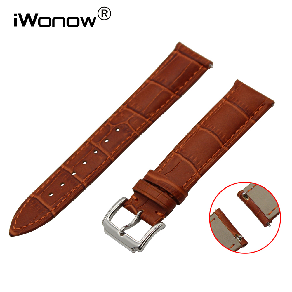 Top Layer Calf Genuine Leather Watchband 18mm 20mm for DW Daniel Wellington Quick Release Strap Wrist Belt Bracelet Brwon Black