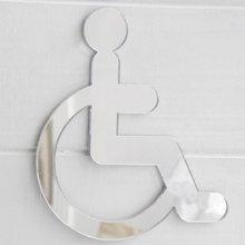 Disabled Wheelchair Door Sign in Acrylic Mirror