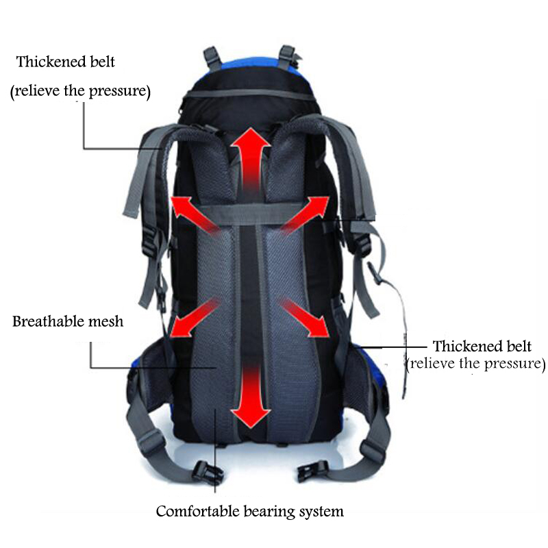 Outdoor Camping Sport Bag For Traveling Travel Backpack Male Waterproof Bag Beach Big Rucksack Outdoorer Male Bags Men's Bags 1