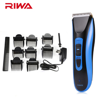 RIWA Blue RE 750A Waterproof Hair Clipper Trimmer Cordless Professional Hair Clipper Rechargeable Haircut Kit With