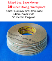 6x 1mm 1 5mm 2mm 3mm 4mm 5mm 55M Original 300LSE Clear Super Strong Adhesion Sticky