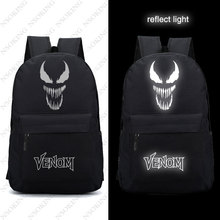 купить New 2018 Nylon Backpacks venom backpack for teenagers men women School travel Bags Film Movie luminous Shoulder Bag по цене 1667.36 рублей