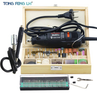 Dremel Hardware Variable Speed Rotary Tool Mini Drill With 130pcs Accessories Flexible Tube Shaft Practical Gift