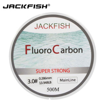 JACKFISH HOT SALE 500M Fluorocarbon Fishing Line  5-32LB check Carbon Fiber Chief Line 0.165-0.46mm fly fishing line pesca