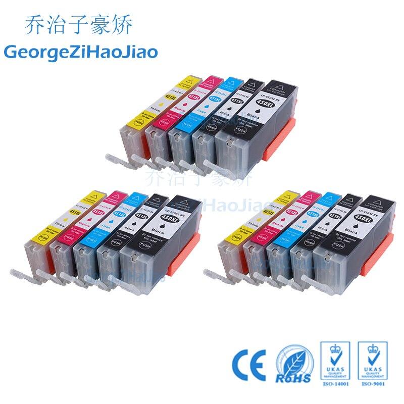 3 ensembles 450XL Cartouches D'encre Compatibles pour Canon 451 PIXMA IP7240 Cli-451 PGI450 PGI-450XL PIXMA IX6540 IX6840 IP8740