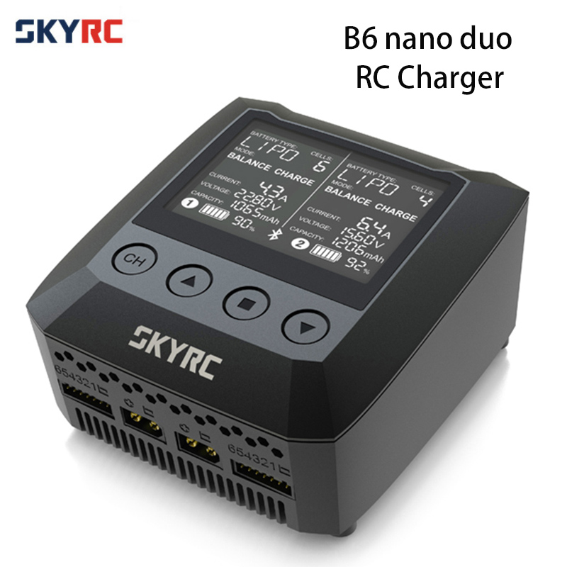 Origina SKYRC B6 Nano Duo 2X100W 15A AC Bluetooth Smart Battery Charger Discharger Support SkyCharger APPOrigina SKYRC B6 Nano Duo 2X100W 15A AC Bluetooth Smart Battery Charger Discharger Support SkyCharger APP