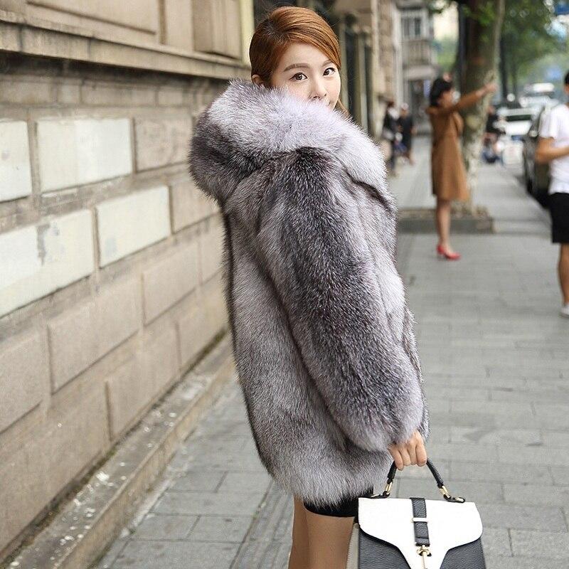Femmes Mode Snow Fox Neige De Veste Fourrure Manteau Livraison Épais Réel Renard Luxe Gratuite Hiver Blue Chaud Bleu Nouvelle Naturelle Npi90220c 6YHwf6qx