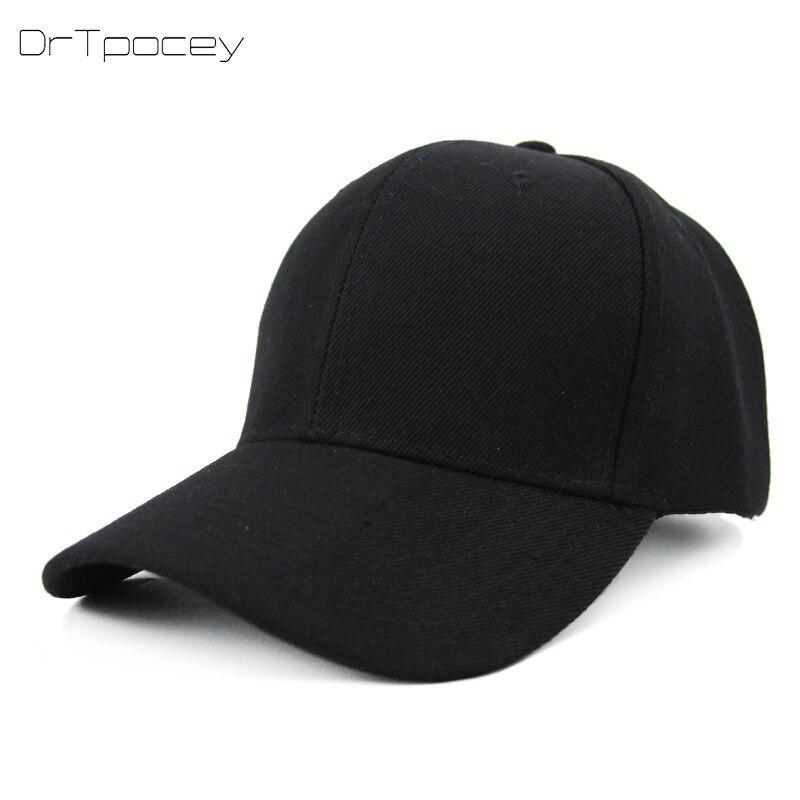 Unisex Black Casquette Solid Color   Baseball     Cap   Men Women Cotton   Cap   Casual Snapbcak Hats Outdoor Dad   Cap   Size Adjustable   Cap